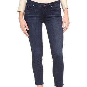 Paige Verdugo Dark Wash Crop Skinny Jeans